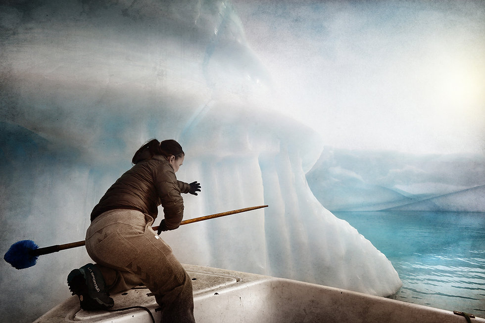 Humans climate change stories greenland