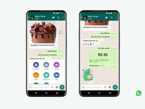 WhatsApp permite envio de dinheiro