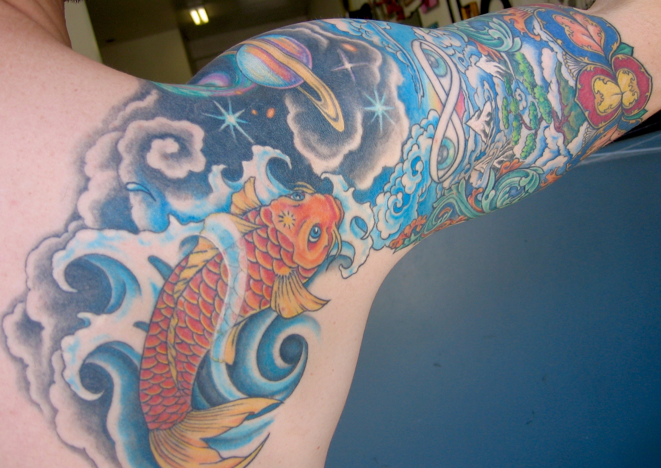 Cosmic Koi Sleeve, Karina Mayorga