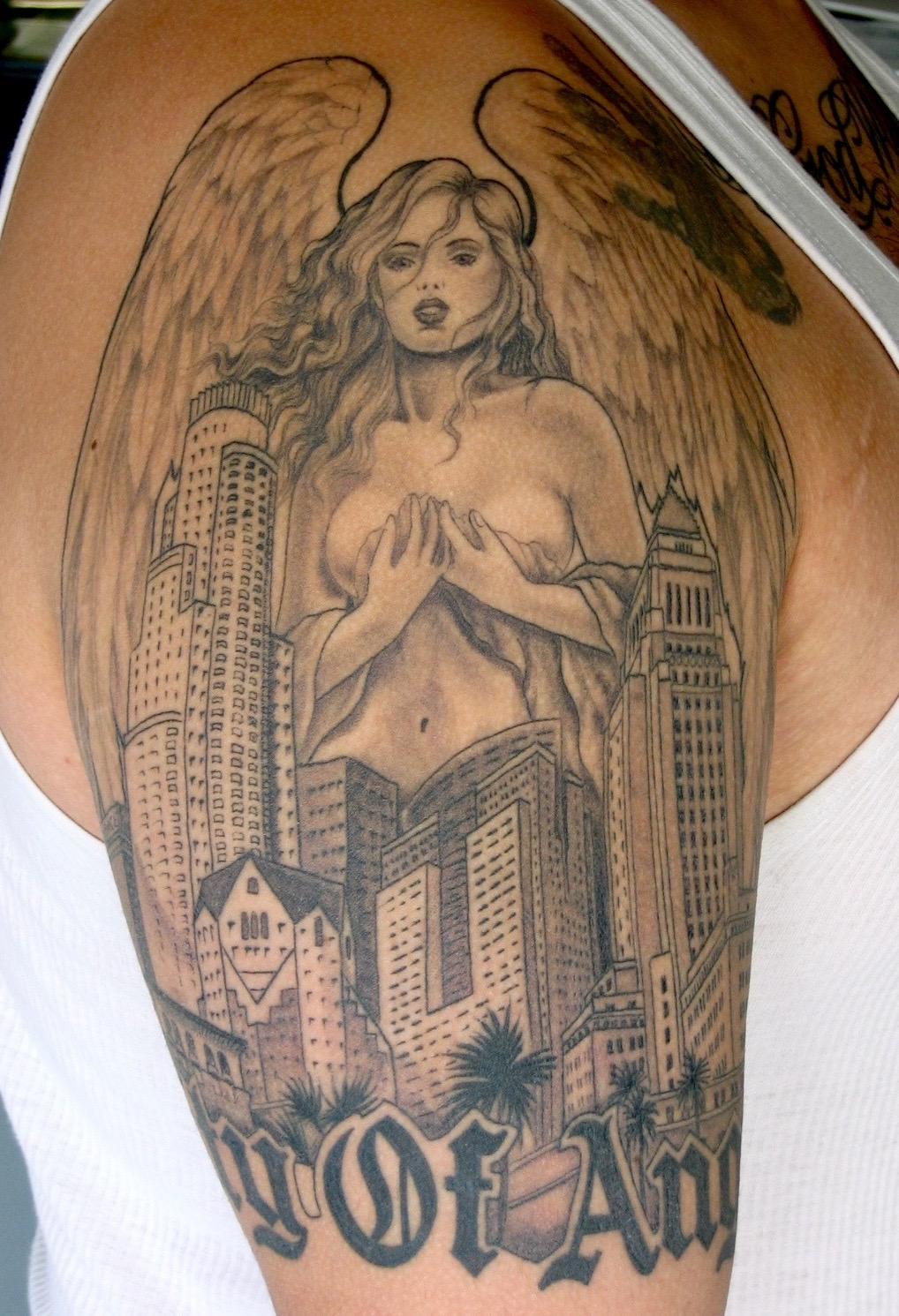 City of Angeles tattoo, Karina Mayorga