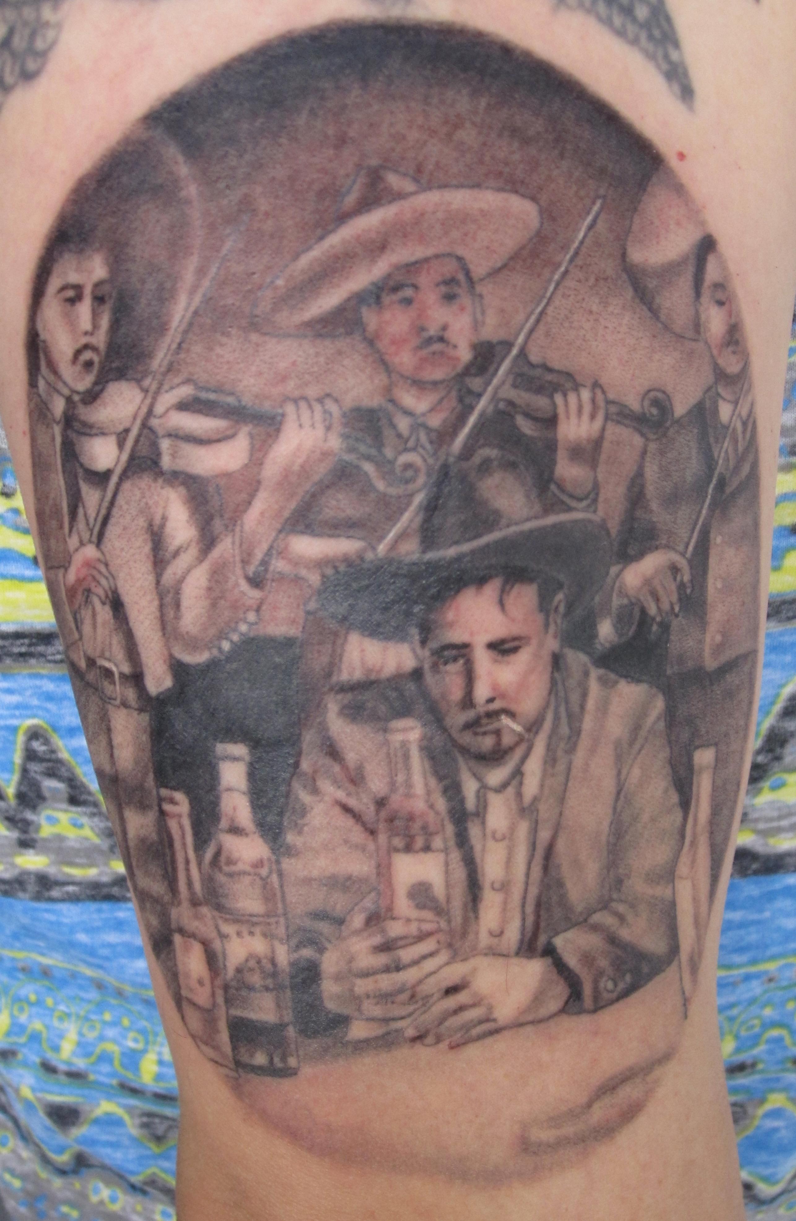 Pedro Infante tattoo, Karina Mayorga