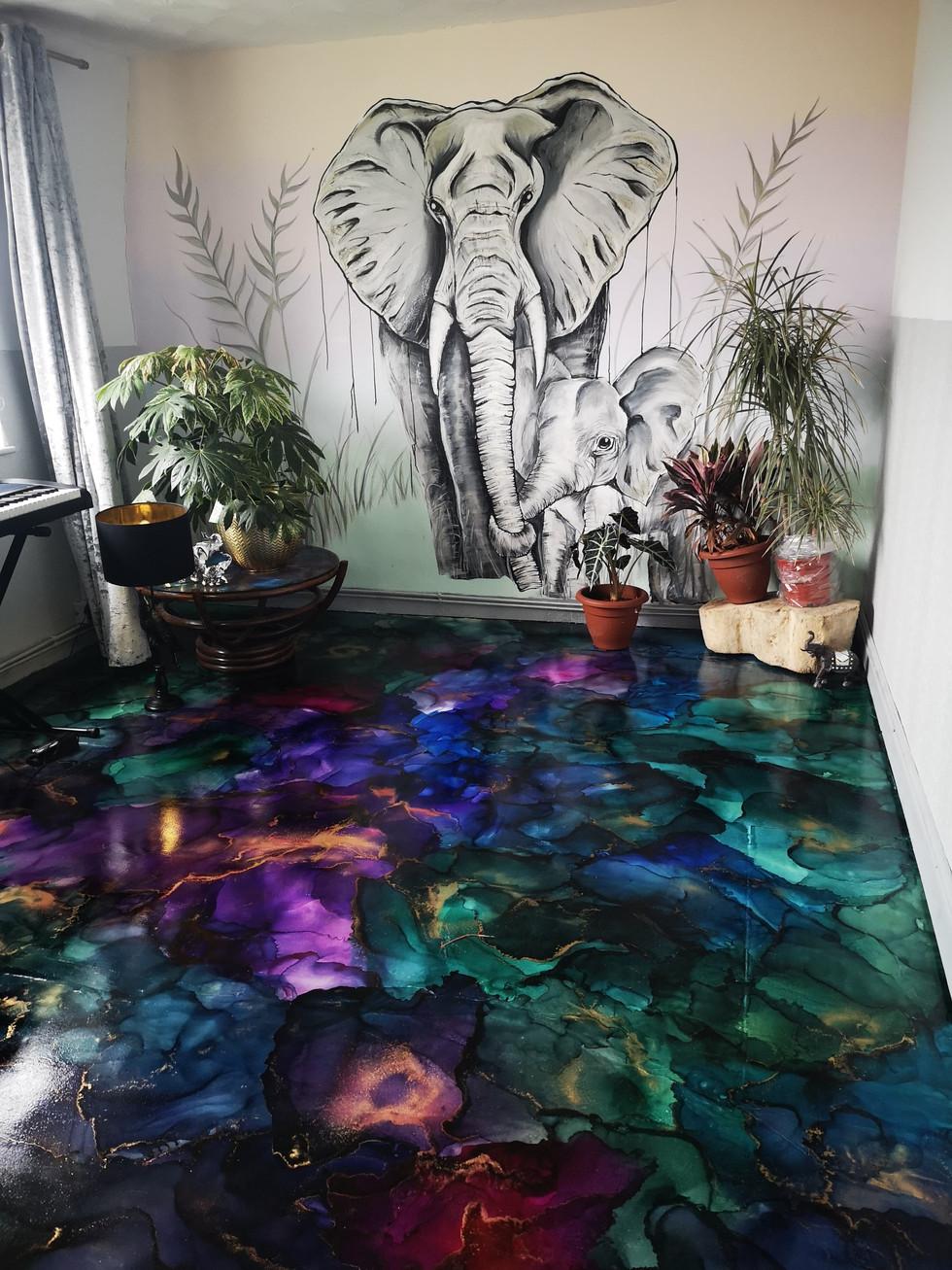 Floor installation.