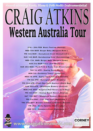 Craig Atkins Western Australia Tour FEB-