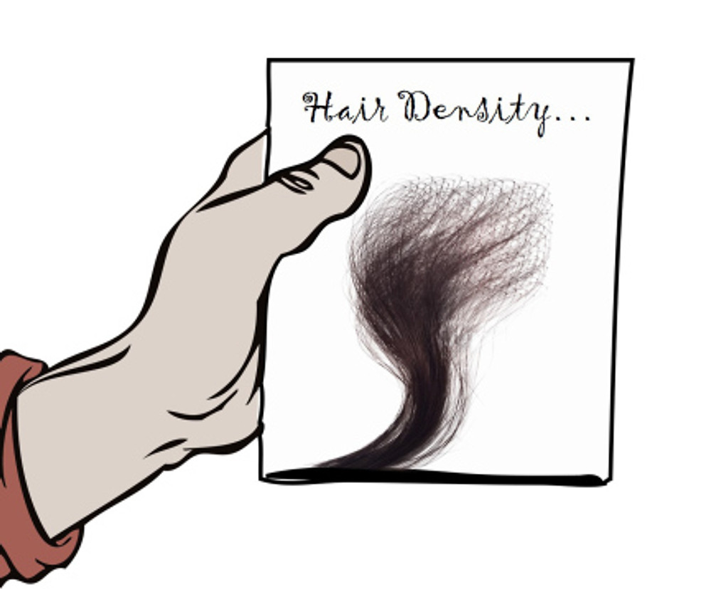 hair density, human hair, wigs, hair extensions, bundles, what is hair density, how to, pic, illustration, cartoon, drawing