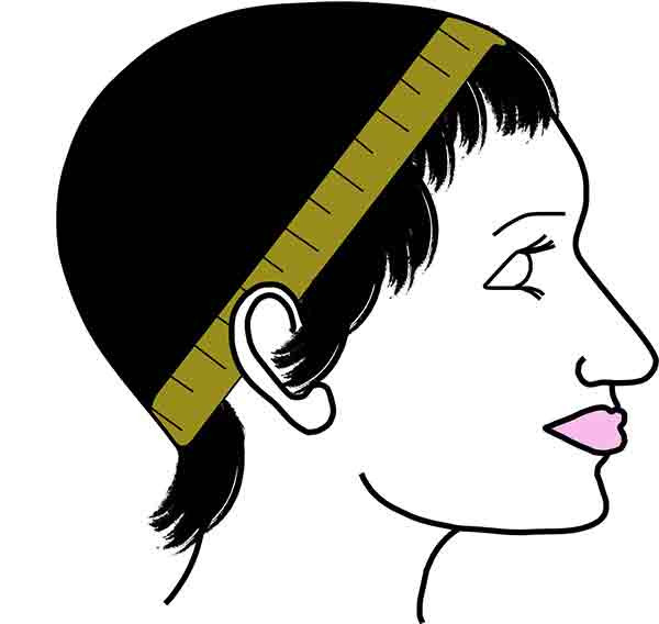 Wig Head Measurement - Circumference