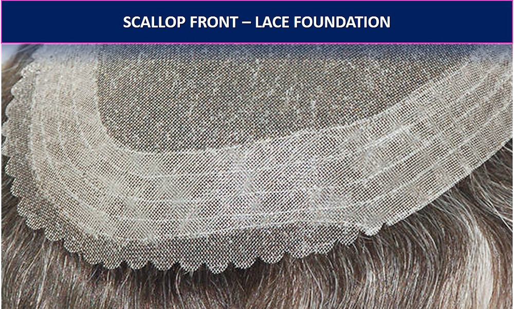 Scallop Front - Wig Lace Foundation