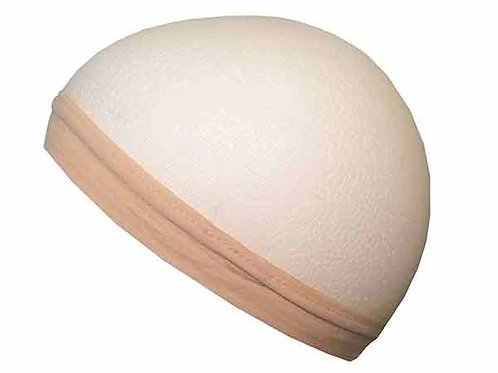 Deluxe Fabric, Non Slip Stocking Wig Cap with Silicone Band – Natural No Slip Off Full View - Excellent for Blonde Hair