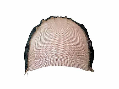 Center Front Lace Wig Cap with Stretch Mesh Base - Front