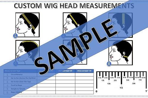 Custom Wig Head Measurement Form