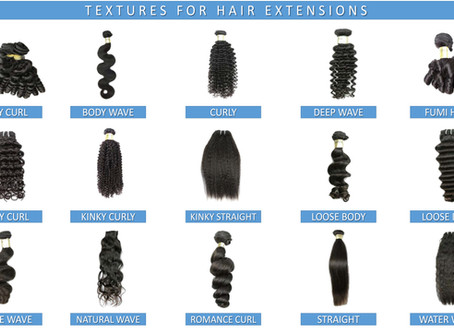 Reference Chart:  Textures for Hair Extensions