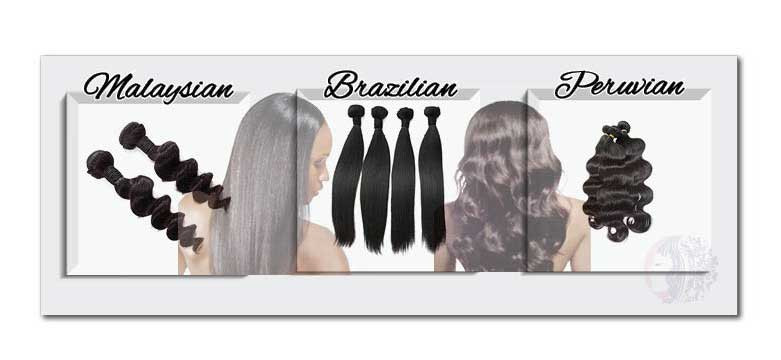 Hair Chart:  Malaysian, Brazilian and Peruvian Human Hair