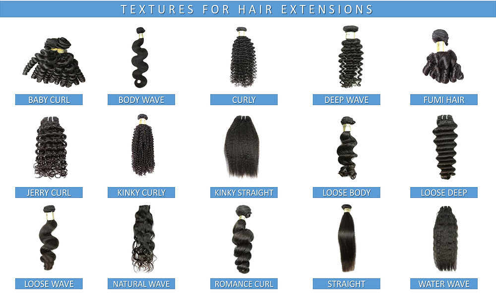 Textures For Hair Extensions Reference_Chart