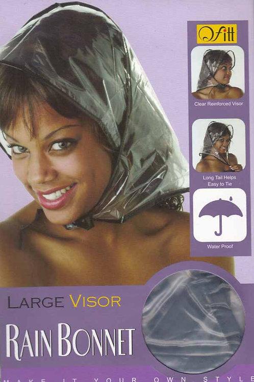 Large Rain Bonnet Visor Cap, shield, protection, raining, lg, hair, damp, frizz, amidbeauty.com, amid beauty, clearance