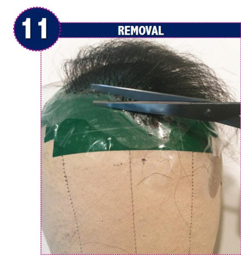 removal, detach, postiche, wig, wigs, hairpiece, toupee, trim the lace, amidbeauty.com