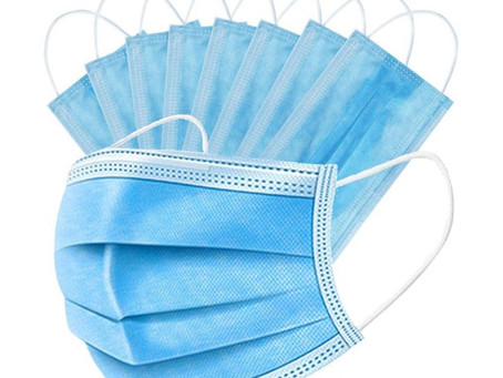 Free 3-Ply Blue Disposable Face Masks