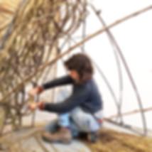 Ellen Mulcrone, willow artist, wicker sculpture, willow art, basketry, weaving