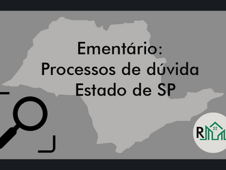 Ementário: processos de dúvida: SP