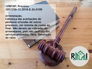 Confira a decisão da 1ª VRP/SP: arrematação e cobrança de custas ao final em penhoras de processos d