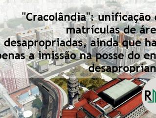 """""""Cracolândia"""": unificação de matrículas de áreas desapropriadas, ainda que haja apenas a i"""