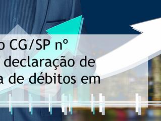 Comunicado CG/SP nº 1914/2018: declaração de inexistência de débitos em correição