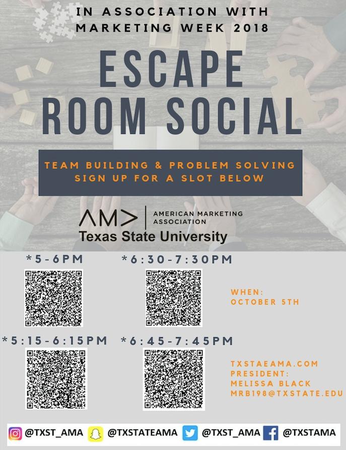 Marketing Week Escape Room Social