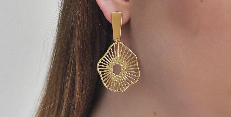 Gold Aubrey Earrings