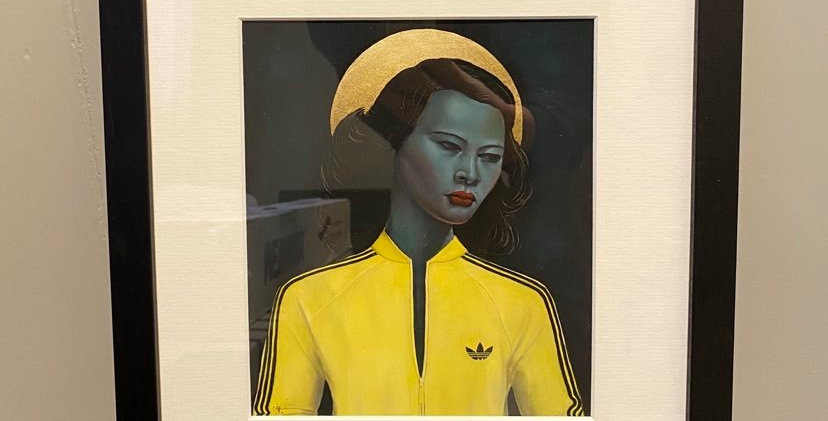 Ross Muir Green Lady Framed Print with Mount