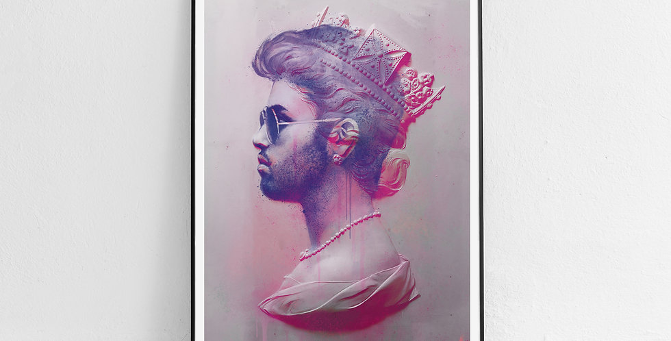Tiny Riot George Michael Framed Faith Print