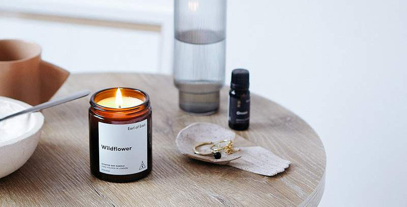 Earl of East Wildflower soy wax candle