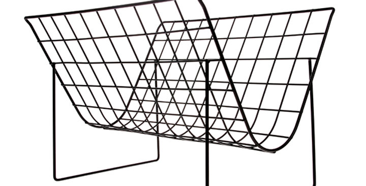 HK Living Black Metal Wire Magazine Rack