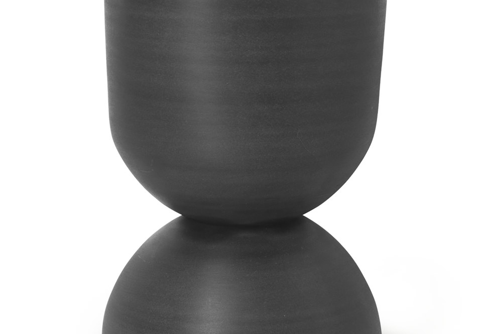 Ferm Living large Hourglass black pot