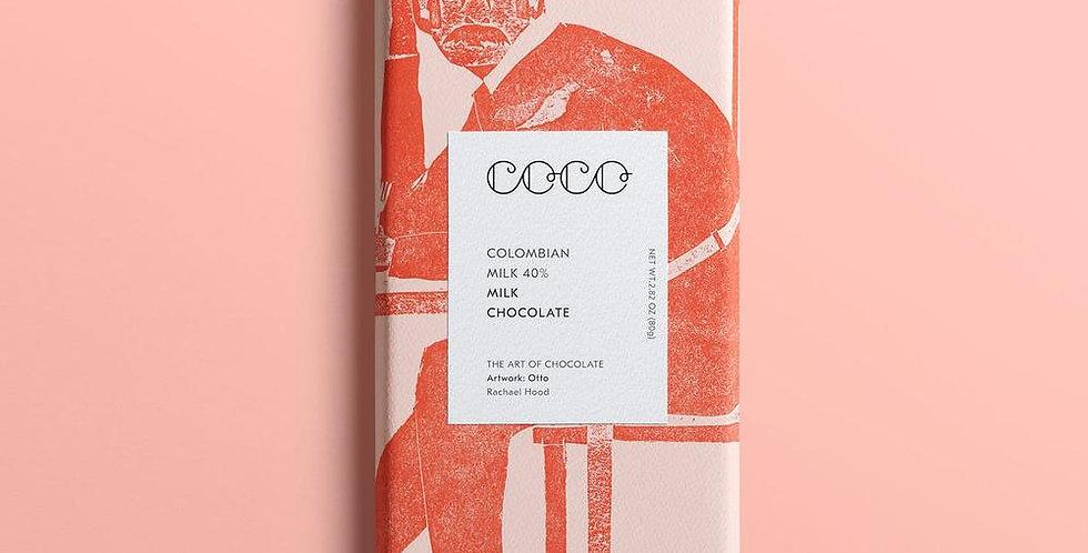 Coco Chocolatier Colombian Milk Chocolate Bar 80g