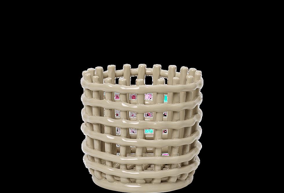 Ferm Living Small Ceramic Basket - Cashmere