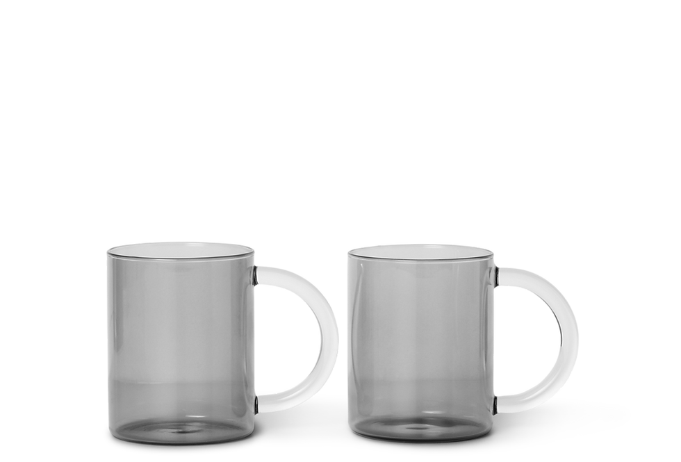 Ferm Living smoked grey Still mug (set of 2)