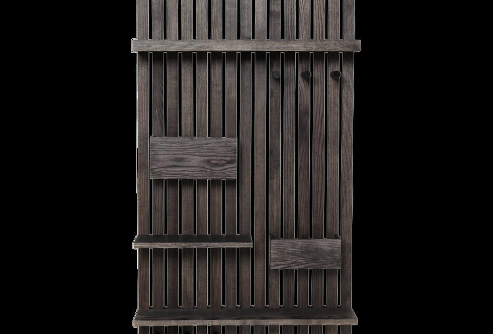 Ferm Living black wooden multishelf