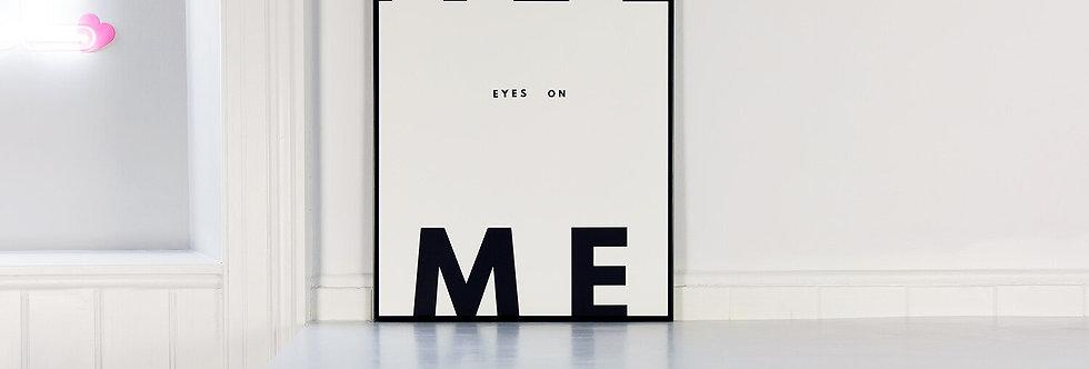 We Are Amused - All Eyes On Me Framed Print (White)
