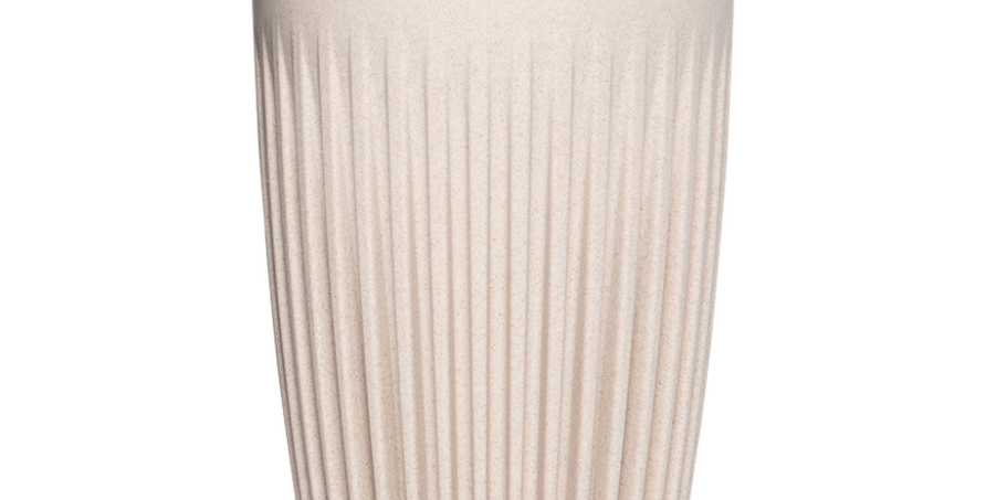 HuskeeCup with lid. Natural 12oz
