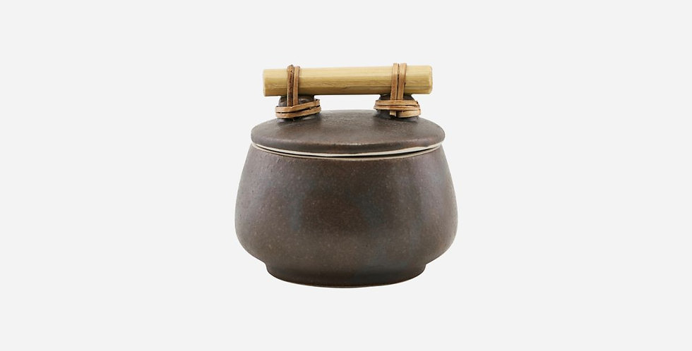 House Doctor Small Brown Storage Jar