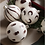 Thumbnail: Ferm Living Christmas Hand Painted Glass Ornaments - Red Brown
