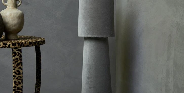 Abigail Ahern Laflin Grey Lamp