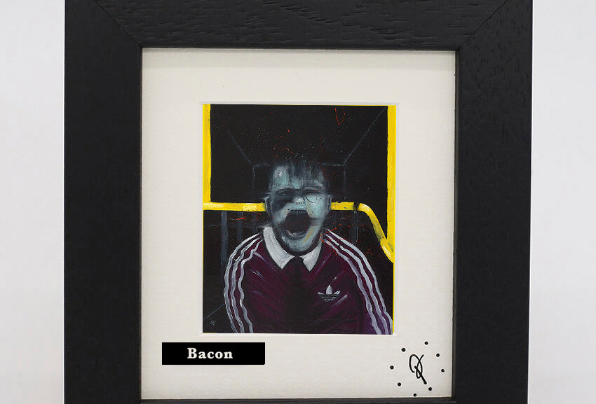 Ross Muir mini Bacon framed print