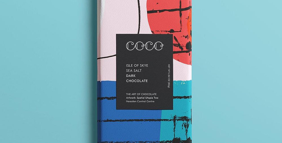 Coco Chocolatier Isle of Skye Dark Chocolate Bar 80g