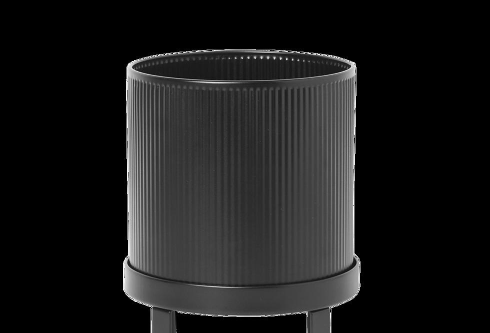 Ferm Living small black Bau pot