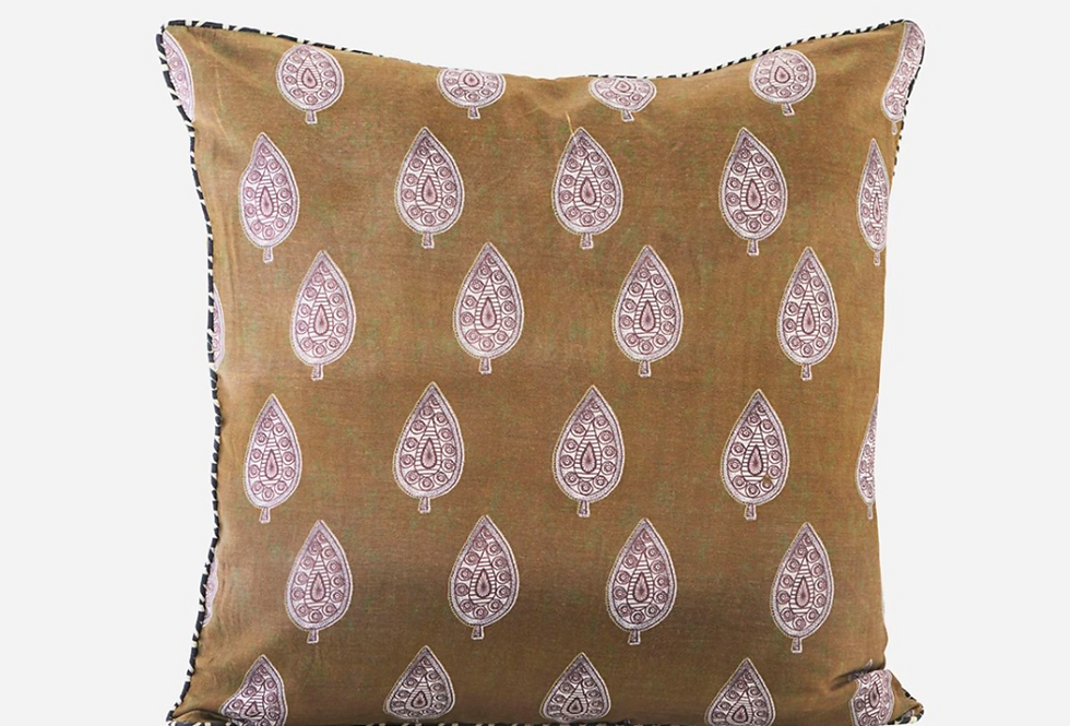 House Doctor Parsley Mustard Cushion