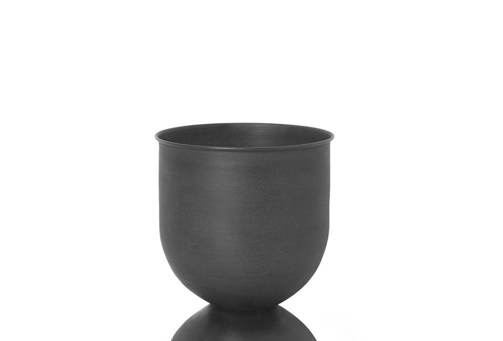 Ferm Living small black Hourglass pot