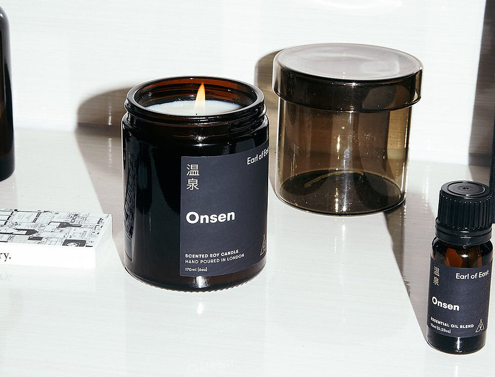 Earl of East Onsen soy wax candle