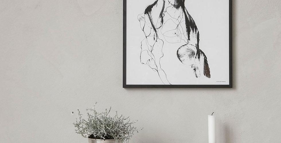 House Doctor Framed Illustration 'Ballet'