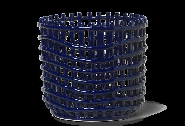Ferm Living Large Ceramic Basket -Blue