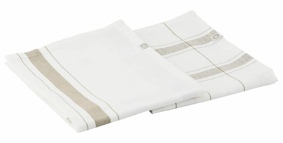 House Doctor Olive Green Halida Tea Towel Set