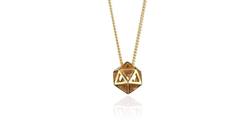 Rachel Entwistle Icosa gold mini pendant